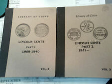 Lincoln Cent collection in Library of coins album, Fine-BU. 1909 VDB-1963-P
