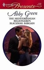 The Mediterranean Billionaire's Blackmail Bar, Green, Abby, Good Condition, Book