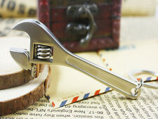 Cool 2Pcs Keychains Metal Adjustable Tool Wrench Spanner Keyrings Creative Gift