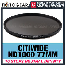 Citiwide ND1000 77mm 10 stops Slim Neutral Density Camera Lens Filter Hoya ND400