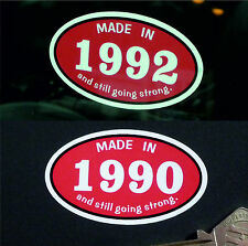 MADE IN 1990s *1990* Classic Car Vintage Bike Helmet STICKER All Years Available