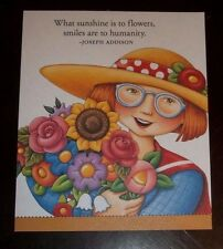 """Magnet w/Mary Engelbreit Art """"What sunshine is to flowers..."""""""