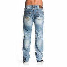 New Affliction $145 Blake Rising Livingston Men's Jeans Distressed Patches 32 34