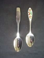 2 VINTAGE SILVER PLATED COLLECTOR'S SPOONS ~CANADA & VANCOUVER ~ONEIDA & BMCo