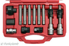13 Pc Bosch Tipo Alternador Polea Car Garage broca de herramienta Kit Hexagonal Spline estrella Bits