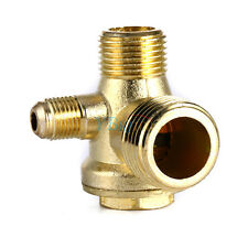 Hot 3 Port Brass Male Threaded Check Valve Connector Tool for Air Compressor