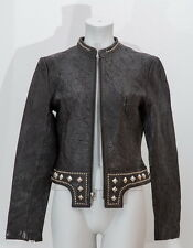 Thomas Wylde Lederjacke Nieten Gr.36 Leder Schwarz Leather Jacket Black