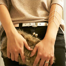Golden Arm Slave Harness Tassels Chain Upper Cuff Armband Armlet Bracelet Bangle