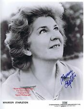 MAUREEN STAPLETON    AMERICAN THEATRE TV FILM ACTRESS    HAND SIGNED B/W  Photo