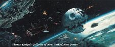 "Star Wars 9"" x 22"" Wrapped Canvas - DEATH STAR FINAL BATTLE by Rodel Gonzalez"