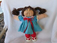 Vintage Cabbage Patch Kid Doll Brown Hair/Eyes & CPK Outfit
