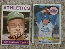 1964 Topps #42, Moe Drabowsky, Kansas City Athletics, auto. dec. 2006