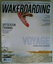 """WAKEBOARDING Magazine March 2014 """"VOYAGE 3 Weeks and 1,000 Miles"""" NEW"""