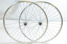 700c WHEELS 5, 6 7 SPEED DOUBLE WALL WHITE RIM QUICK RELEASE HUBS 130mm O.L.D