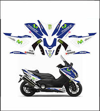 kit adesivi stickers compatibili  tmax 2012 2014 530 m1 movistar moto gp