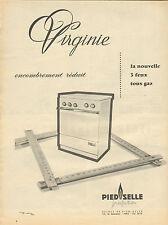 Publicité 1960  Cuisinière PIED SELLE perfection 3 feux tous gaz