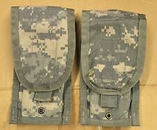 Lot of 2 - US Military Army ACU Molle II M16 / M4 Double Mag Ammo Pouches EUC
