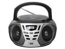 TREVI PORTATILE BLUETOOTH STEREO Boombox CD MP3 USB AUX FM Nera CONSEGNA GRATUITA
