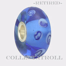 Authentic Troll bead Blue Dots Trollbead *RETIRED*  61154