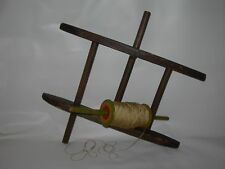 2-Vintage Primitive Country Decor Wooden KITE STRING Twine-Yarn Winder~Painted