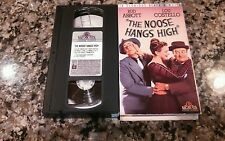 THE NOOSE HANGS HIGH RARE VHS TAPE! 1948 COMEDY HORROR! BUD ABBOTT, LOU COSTELLO