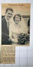 1949 Miss Valerie Anne Walker, Tooting Marries Mr Ian Champion Brixton Hill