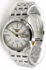 Seiko Automatic Stainless Steel White Dial Men's Watch SNKH05K1