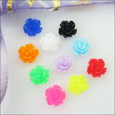 50Pcs Mixed Resin Flowers Cameos fit Cabochons Settings Flatback Charms 6mm