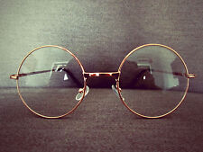 Harry Potter Gold Metal Oversized Vintage Round Fashion Glasses 60s 80s