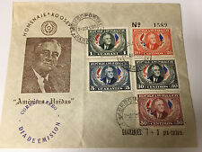 POSTAL COVER ROOSEVELT FROM REPUBLICA DEL PARAGUAY