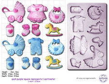 Baby Shower Battesimo Craft Sugarcraft SCULPEY Stampo in Silicone Stampo in gomma