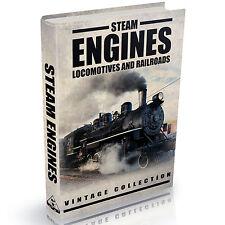 Steam Engines Locomotives and Railways Books -  203 Old Vintage Books on DVD