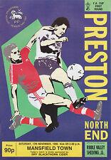 Programa de fútbol > Preston North End V Mansfield Town Nov 1990 Fac