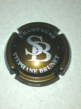 Capsule de champagne BRUNET Stéphane initial SB (5. marron et argent)