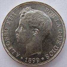 5 Pesetas plata 1899 S.G.V. *18 *99 Duro EBC