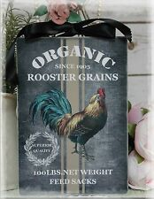 "~ Vintage ""Rooster Grains"" ~ Shabby Chic~Country Cottage style~Wall Decor Sign ~"