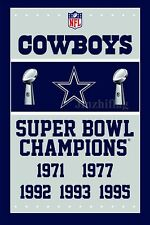 NFL Dallas Cowboys Super Bowl Champions Flag Banner New 3x5FT, free shipping