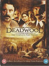 DEADWOOD - Complete 1st Series. Ian McShane (HBO 4xDVD BOX SET 2005)