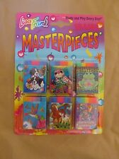 BRAND NEW VINTAGE LISA FRANK MASTERPIECES ERASER SET BEAR~DOG~FROG~HORSE~SEAL