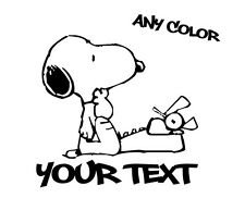 WRITER Author SNOOPY Vinyl Decal Wall Sticker Graphics - ANY COLOR