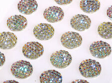 CB41-16SW 24 x 16mm Self Adhesive Sparkle Resin Gems AB CLEAR Stick on Diamantes