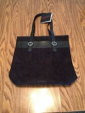NWT Givenchy Parfums Bag Black Suede leather Tote laptop handbag Shopper