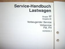 Manuale officina Grundservice Vollservice Volvo Camion FM FH Versione 2 -06.2001