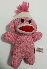 "Schylling Sock Monkey 7"" Soft Plush Toy Pink"