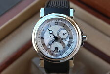 Breguet Marine Dual Time Mens Watch Auto- 5857st/12/5zu -Box/Papers -MSRP $23600