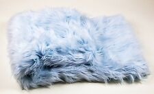 """Throws Blanket / Bed Spread Coverlet / Soft Baby Blue faux fur  108"""" x 60"""""""