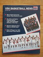 USA BASKETBALL 1995 OLYMPICS Magazine SHAQUILLE O'NEAL DAVID ROBINSON GRANT HILL