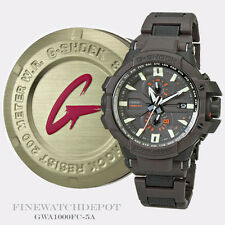 Authentic Casio G-Shock Men's Black & Brown Aviation Series Watch GWA1000FC-5A