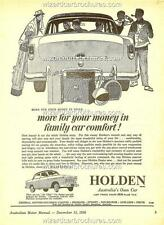 1956 HOLDEN FE A3 POSTER AD ADVERT ADVERTISEMENT SALES BROCHURE