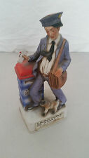 LIONSTONE THE MAIL CARRIER VINTAGE PORCELAIN WISKEY DECANTER *RARE*